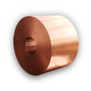 Rolka blachy - Miedź - Szerokość 1000 mm - Grubość 0,55 mm
