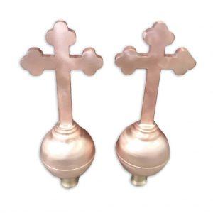 Krzyże - Miedź - wysokość 850 mm - średnica kuli 150 mm