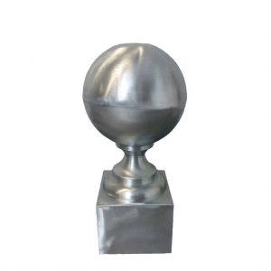 Szpica dachowa z kulą - Tytan Cynk Natural - wysokość 400 mm - kula 150 mm