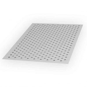 Arkusz blachy perforowanej - Grubość 0,8 mm | Szerokość 1000 mm | Długość 2000 mm - Aluminium