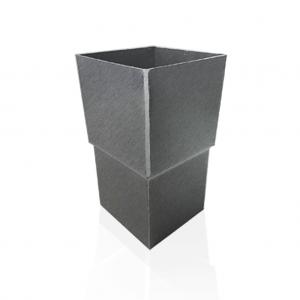 Mufa kwadratowa (złączka do rur) - Quartz Patyna Tytan Cynk