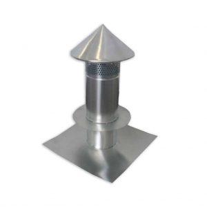 Kominek z ociepleniem - Tytan Cynk Natural - wysokość 600 mm