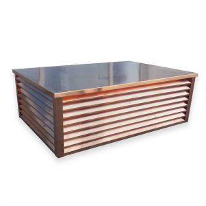 Element ozdobno-wentylacyjny komina - Miedź - wysokość 400 mm - szerokość 600 mm x 1000 mm