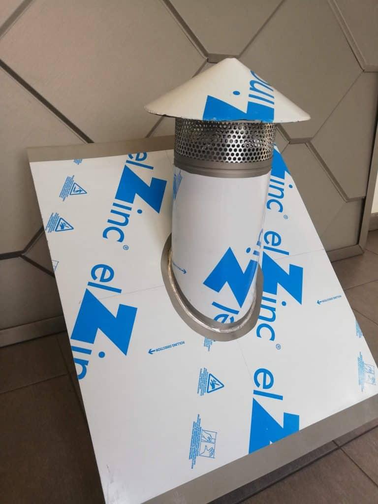 Kominek wentylacyjny – Aluminium – wysokość 800 mm – RAL 7016