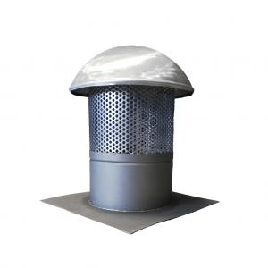 Kominek wentylacyjny - Tytan Cynk Natural - wysokość 400 mm