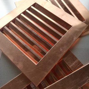 Kratka wentylacyjna – Miedź - wymiary 150 x 250 mm