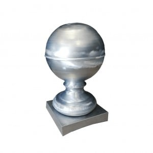 Szpica dachowa z kulą - Tytan Cynk Natural - kula 200 mm