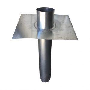 Przepust dachowy - Tytan cynk natural - 400 mm x 400 mm