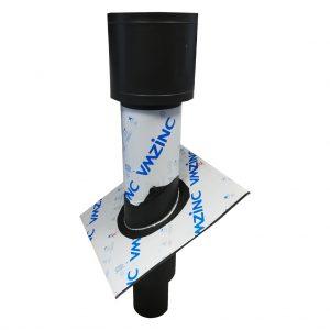 Kominek wentylacyjny z ociepleniem - Tytan Cynk Vm Zinc Anthra - wysokość 1500 mm